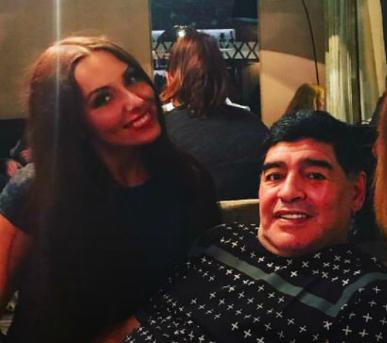 Екатерина Надльская и Диего Марадона
