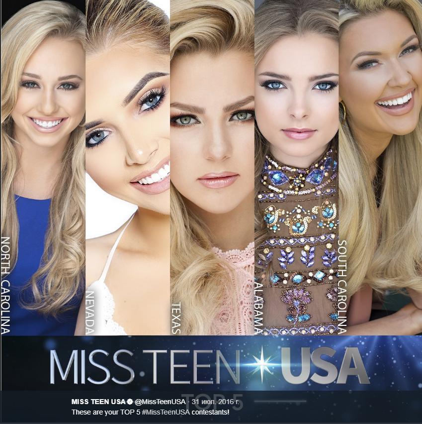 Финалистки конкурся Юная Мисс США-2016