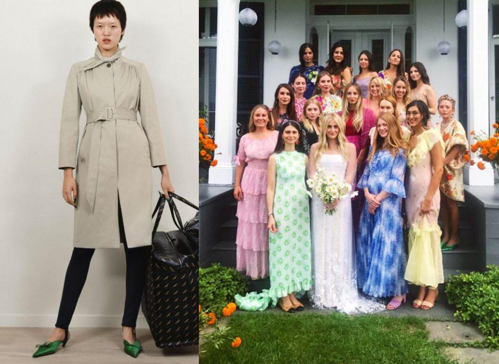 Лукбук Balenciaga Pre-Fall 2017 / Мэри-Кейт Олсен (справа) на свадьбе