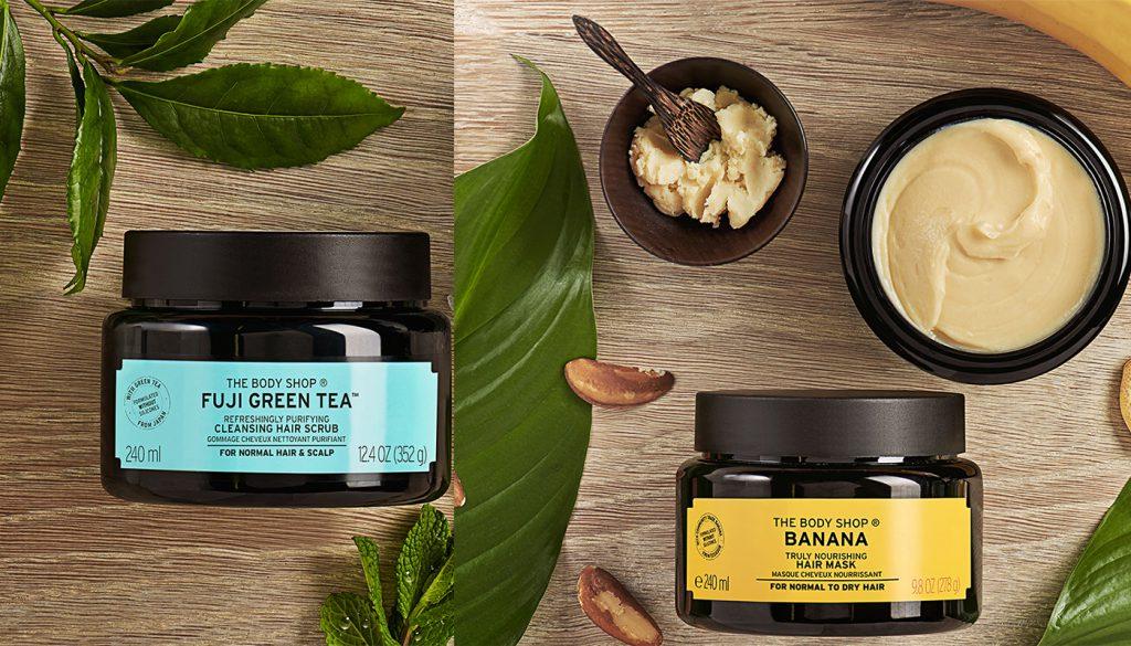 Коллекция средств для волос на основе натуральных масел, экстрактов и фруктовых пюре, The Body Shop