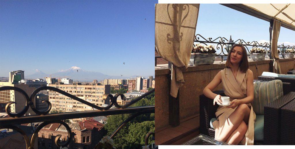 Вид с терассы отеля Paris Hotel Yerevan