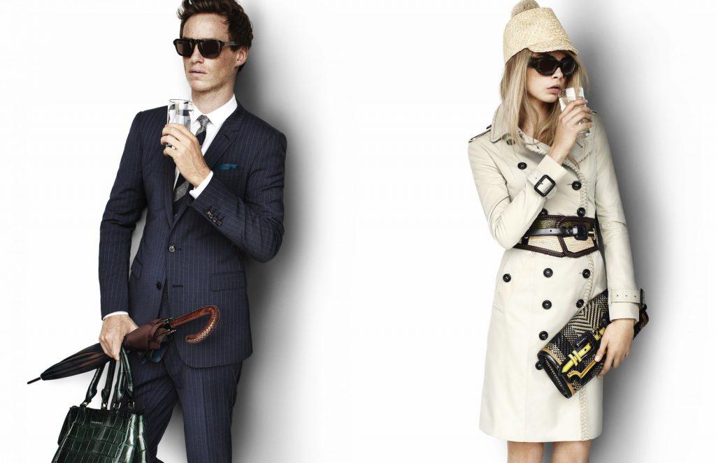 Эдди Рэдмейн и Кара Делевинь в рекламной кампании Burberry