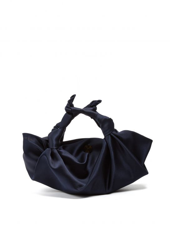 The Row The Ascot Small Velvet Clutch, $975