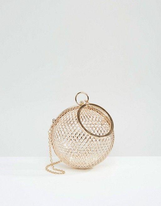 ASOS Cage Sphere Clutch Bag, $40