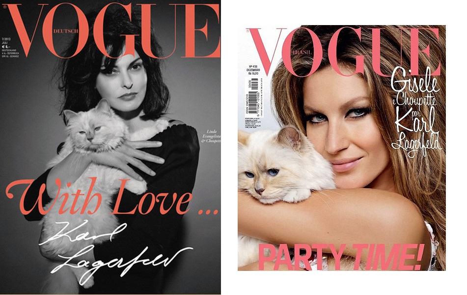Обложка немецкого Vogue, обложка бразильского Vogue