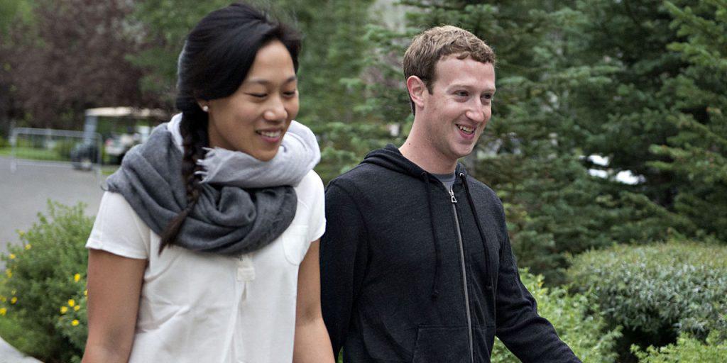 Присцилла Чан и Марк Цукерберг, основатель Facebook