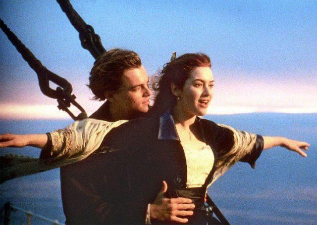 Леонардо ДиКаприо и Кейт Уинслет в «Титанике»