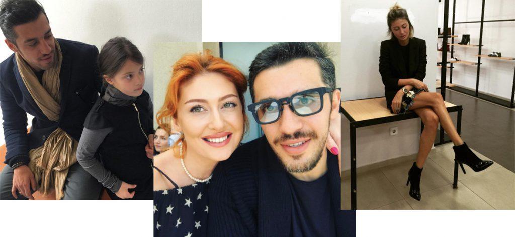 Александр Амисулашвили с дочкой и женой Нини Заркуа
