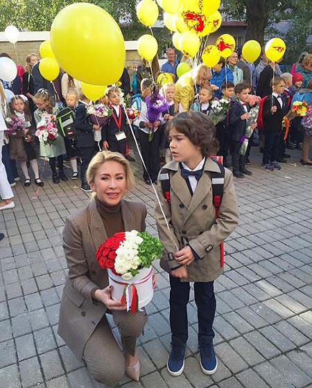 Анастасия Гребенкина с сыном Иваном