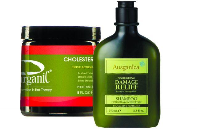 Маска Kerarganic Cholesterol mask и шампунь для поврежденных волос  Ausganica