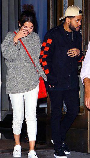 Селена Гомес и The Weeknd вчера в Нью-Йорке
