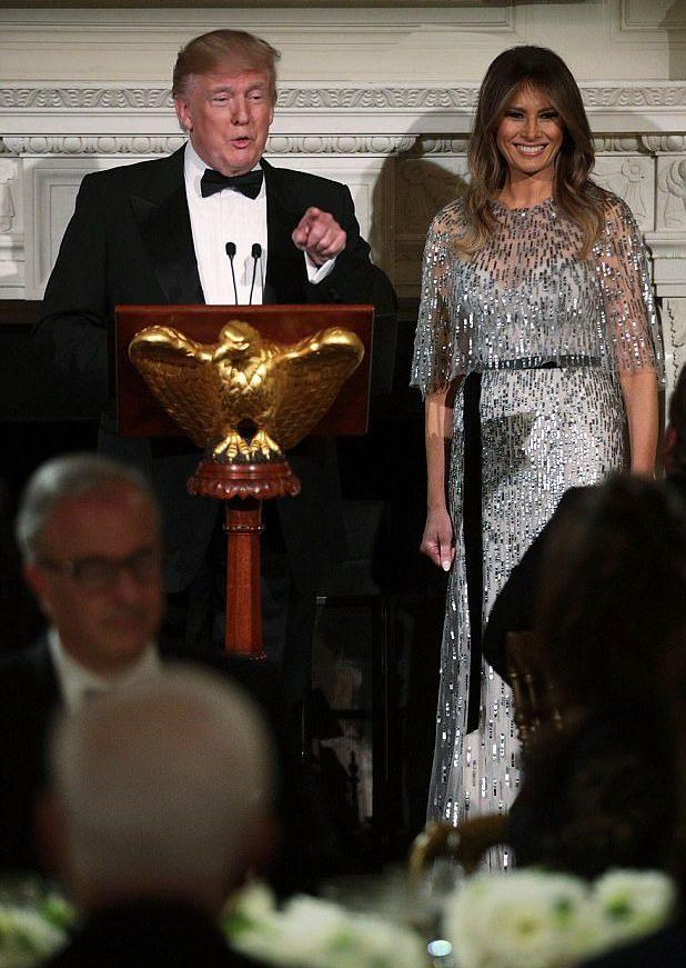 Мелания и Дональд Трамп в Белом доме