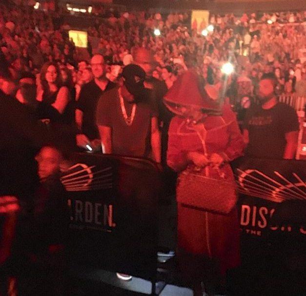 Джей Зи и Бейонсе на концерте Бруно Марса