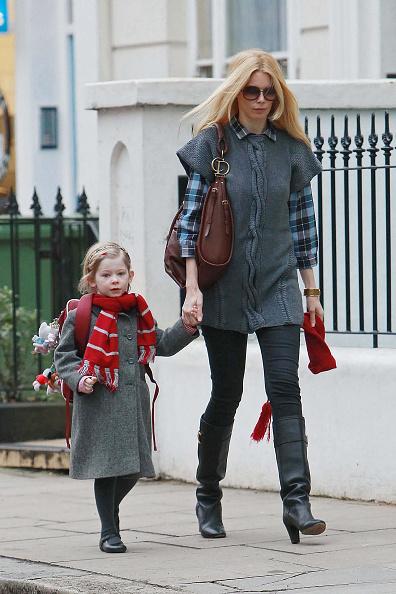 Клаудия Шиффер с дочерью Клементиной