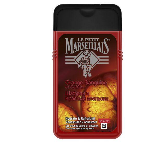 Гель-шампунь для мужчин «Шафран и Красный апельсин», LE PETIT MARSEILLAIS