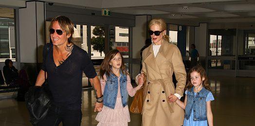 Николь Кидман и Кит Урбан с дочерьми