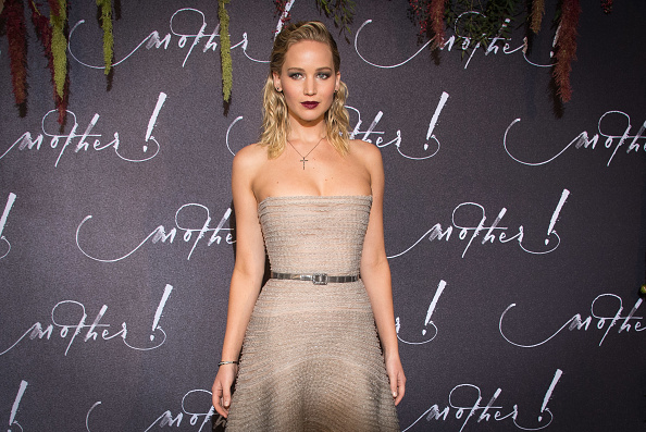 """PARIS, FRANCE - SEPTEMBER 07:  Actress Jennifer Lawrence attends the French Premiere of """"mother!"""" at Cinema UGC Normandie on September 7, 2017 in Paris, France.  (Photo by Stephane Cardinale - Corbis/Corbis via Getty Images)"""