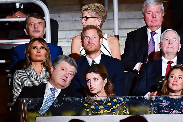 Мелания Трамп и принц Гарри на церемонии открытия «Игр непокоренных», 25 сентября 2017