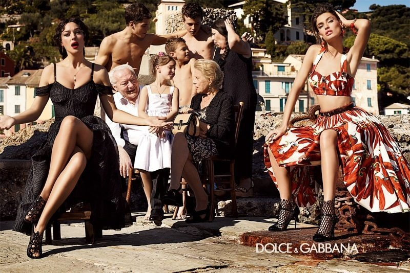 Моника Беллуччи и Бьянка Балти для Dolce & Gabbana