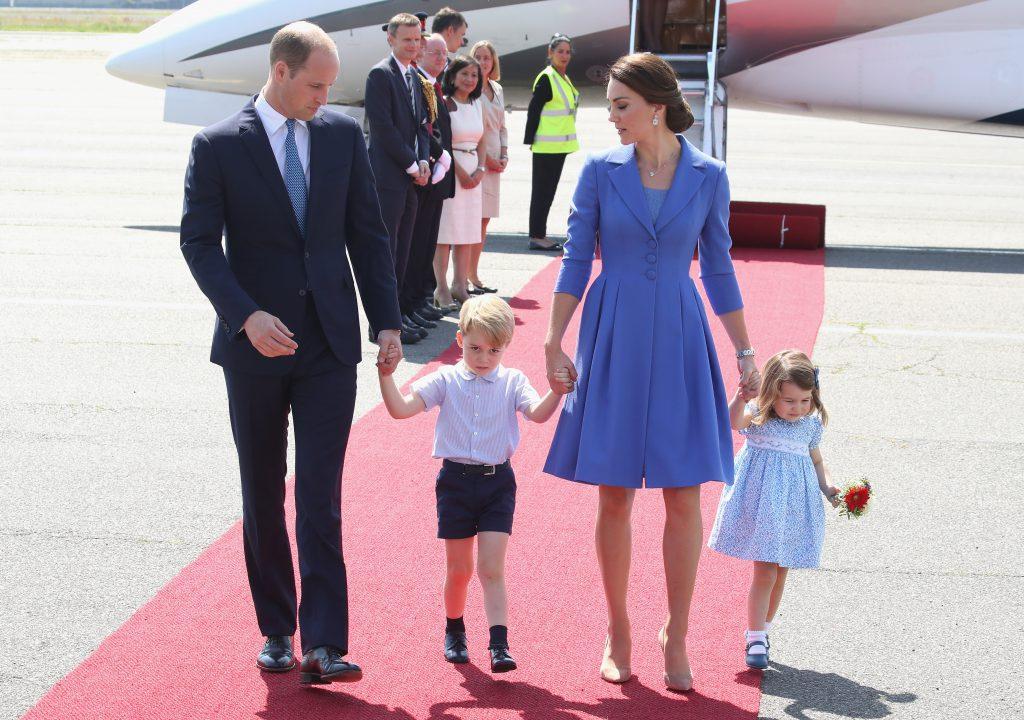 Принц Уильям и Кейт Миддлтон с детьми, 2017