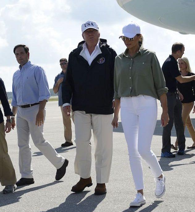 Мелания и Дональд Трамп во Флориде, 14 сентября