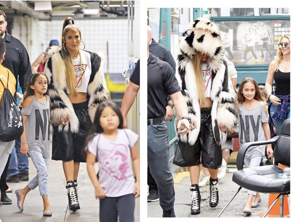 Дженнифер Лопес с дочкой Эммой