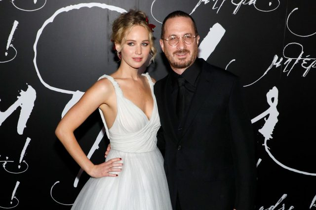 Дженнифер Лоуренс и Даррен Аронофски на премьере «Мамы» в Нью-Йорке