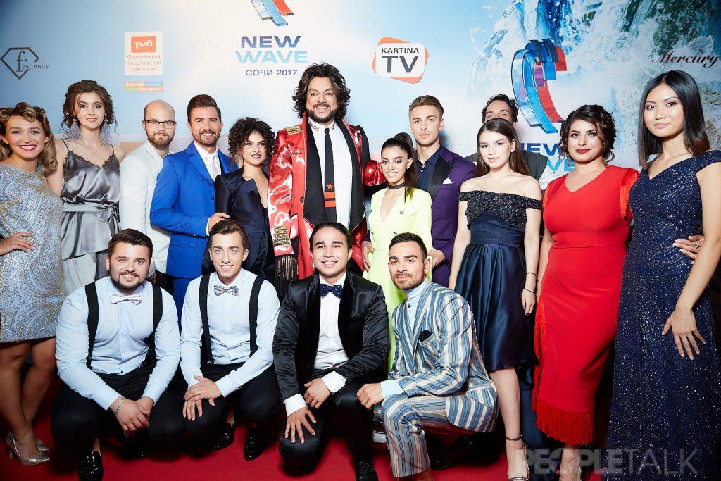 Филипп Киркоров и конкурсанты «Новой Волны»