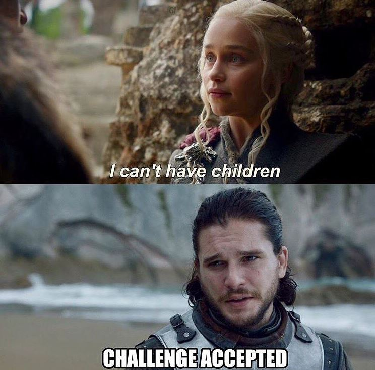 - Я не могу иметь детей. - Вызов принят.