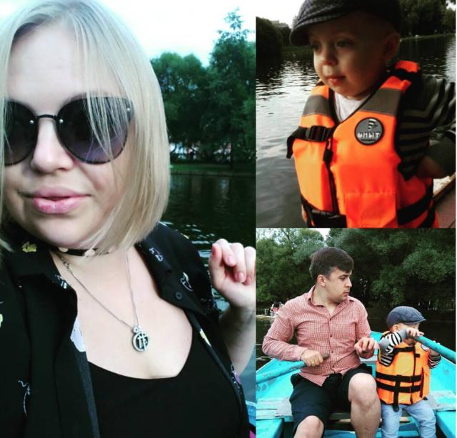 Елена Кукарская с мужем и сыном