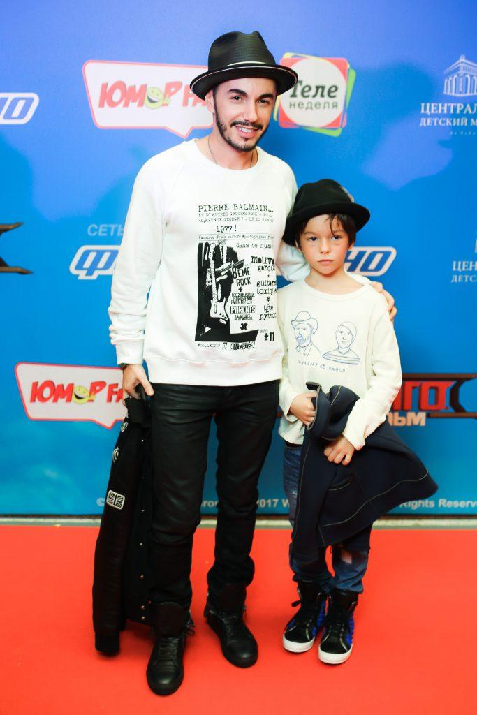 Тимур Родригез с сыном Мигелем