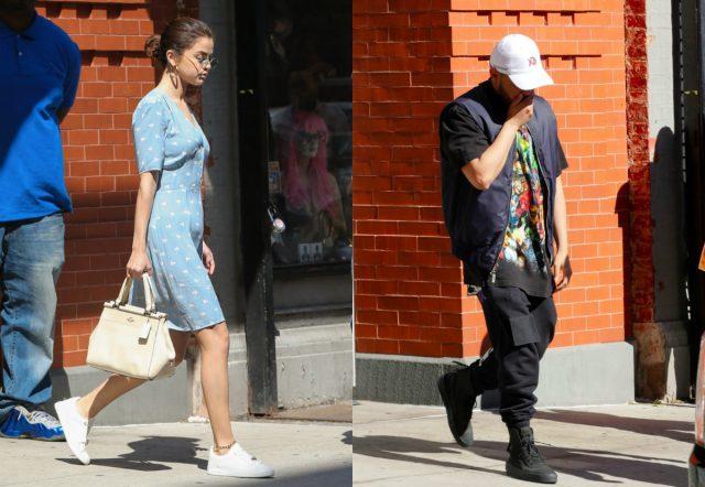 Селена Гомес и The Weeknd выходят из своей квартиры в Нью-Йорке