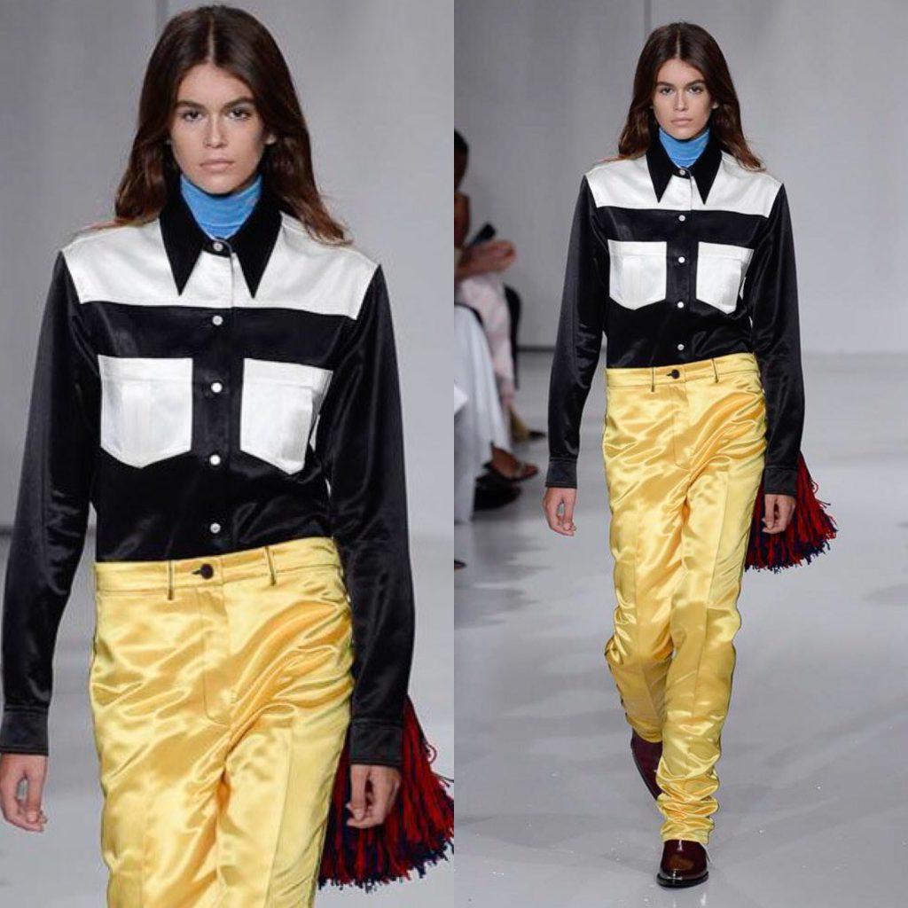 Кайя Гербер на показе Calvin Klein