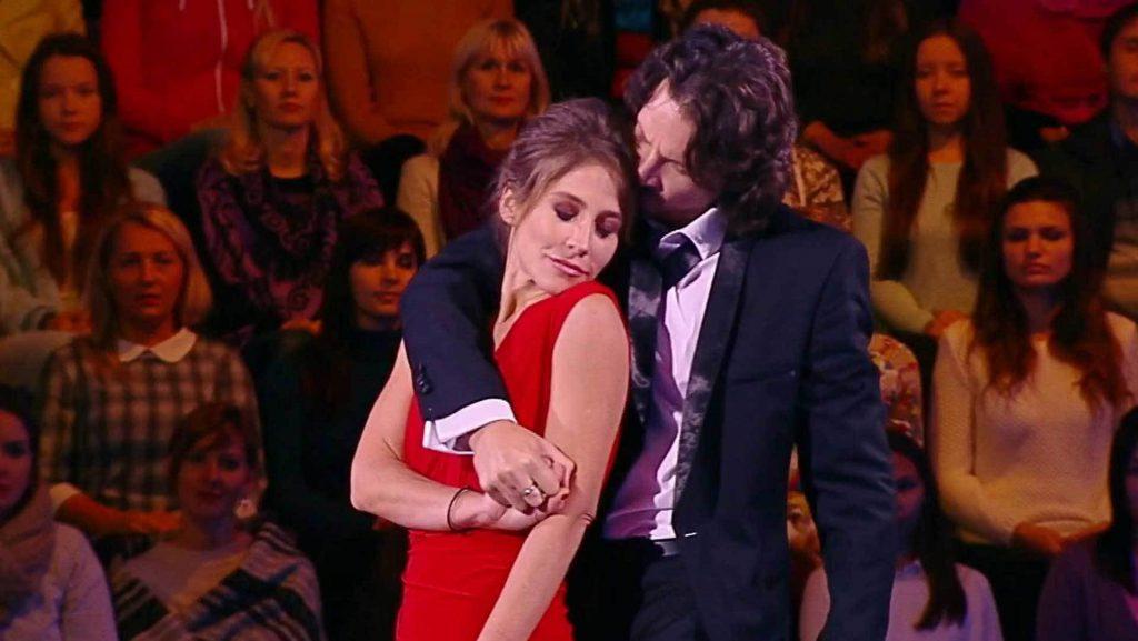 Юлия Барановская и Максим Шабалин  в шоу «Ледниковый период»