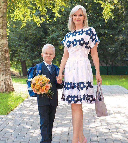 Натали с сыном Толей