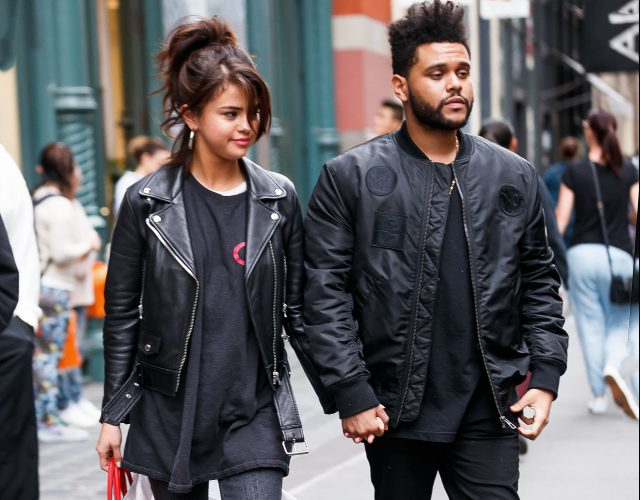 EXCLUSIVE: Selena Gomez and The Weeknd hold hands during a romantic shopping stroll in Soho, New York after lunching at Lure Fishbar