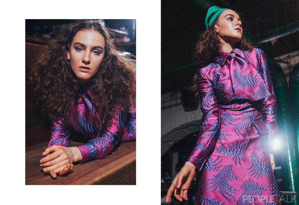 Платье, VIVA VOX; берет, Milena Yakubovskaya