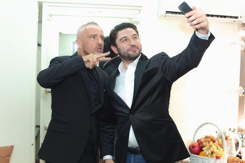 Эрос Рамазотти и Табриз Шахиди
