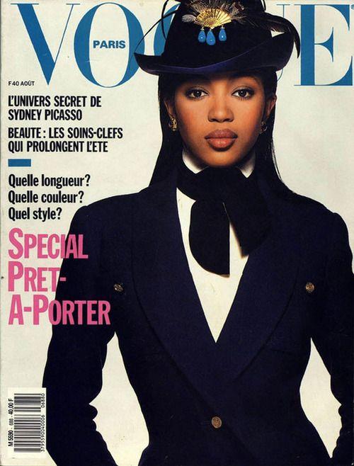 Первая обложка издания с чернокожей моделью (Vogue Paris, август 1988)