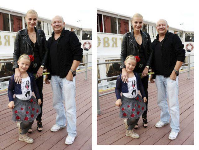 Ксения Бик и Дмитрий Марьянов с дочкой Анфисой