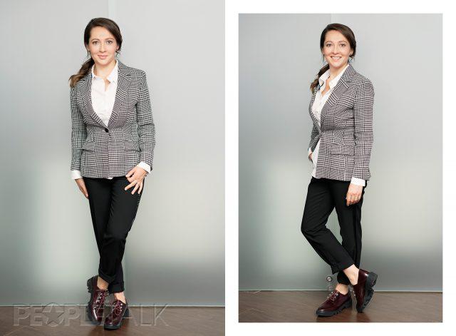 Пиджак Escada, рубашка I am Studio, брюки Zara, ботинки Portal
