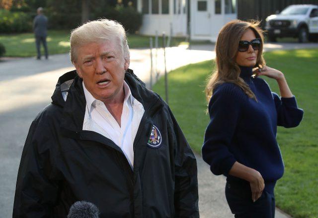 Дональд и Мелания в Пуэрто-Рико, 3 октября