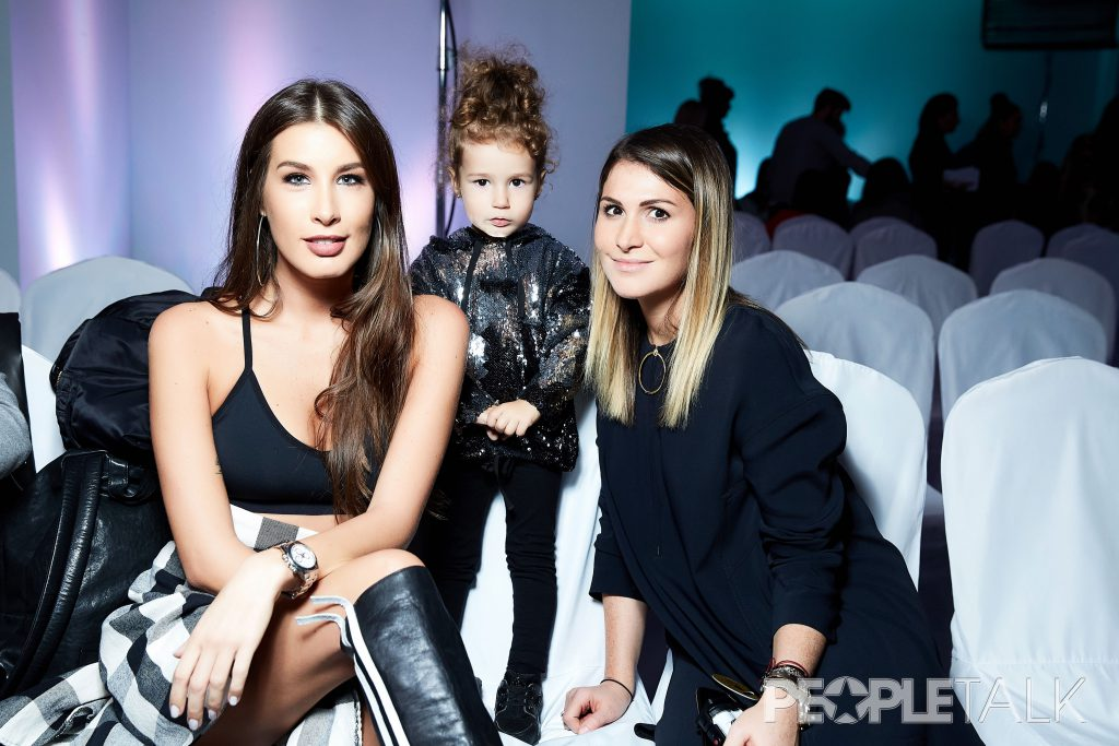Кети Топурия с дочерью Оливией и Лаура Джугелия