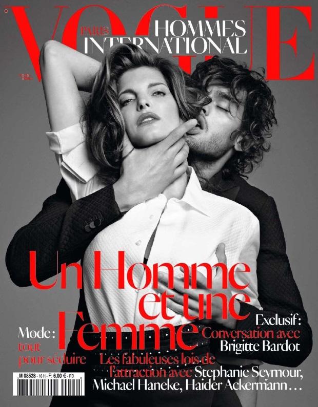 Читатели считают, что обложка склоняет к насилию в семье (Vogue Hommes, осень 2012)