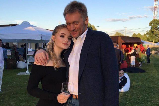 Лиза и Дмитрий Песков