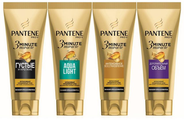 Интенсивный бальзам-ополаскиватель Pantene 3 Minute Miracle