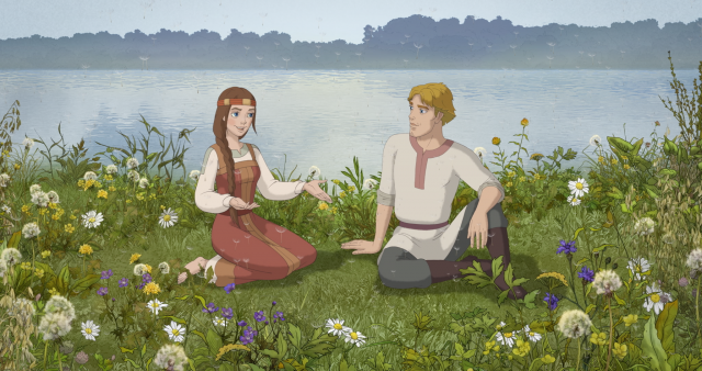 Кадр из мультфильма «Петр и Феврония»