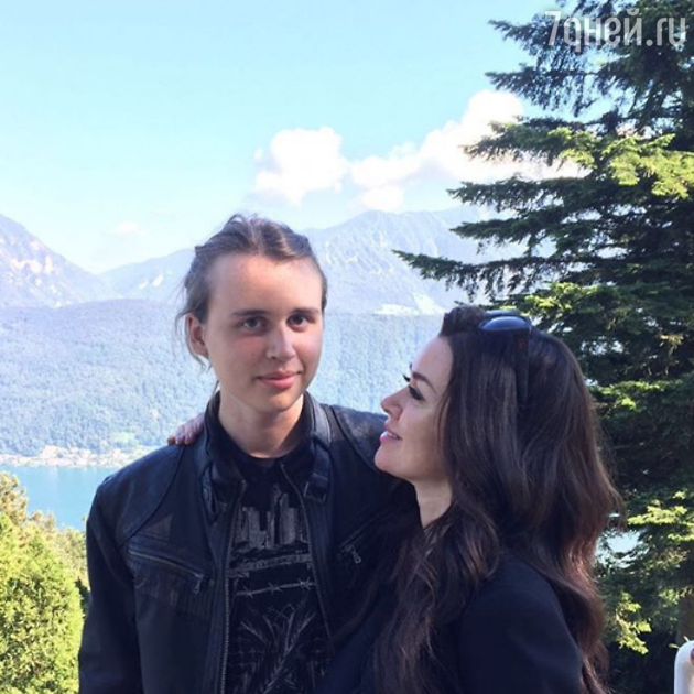 Анастасия Заворотнюк и сын Майкл
