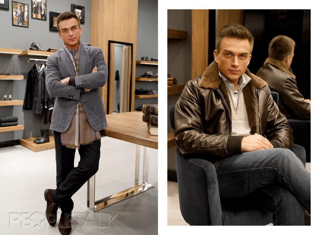 Слева:ПолоMissoni, брюкиLarusMiani, пиджакStile Latino Napoli, шарфFrancesca Bassi, ботинкиCastori. Справа: