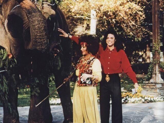Элизабет Тейлор и Майкл Джексон